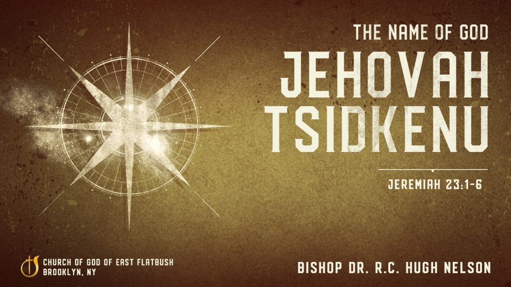 The Name of God: Jehovah Tsidkenu Image