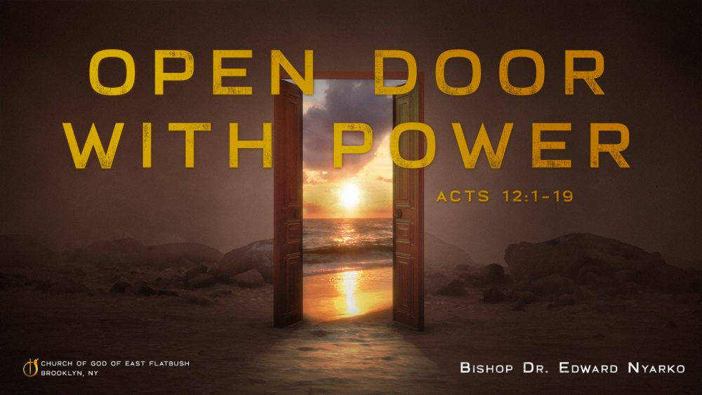 Open Door with Power Image