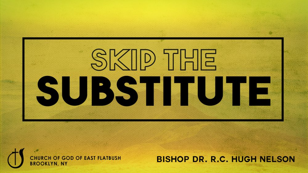 Skip the Substitute Image