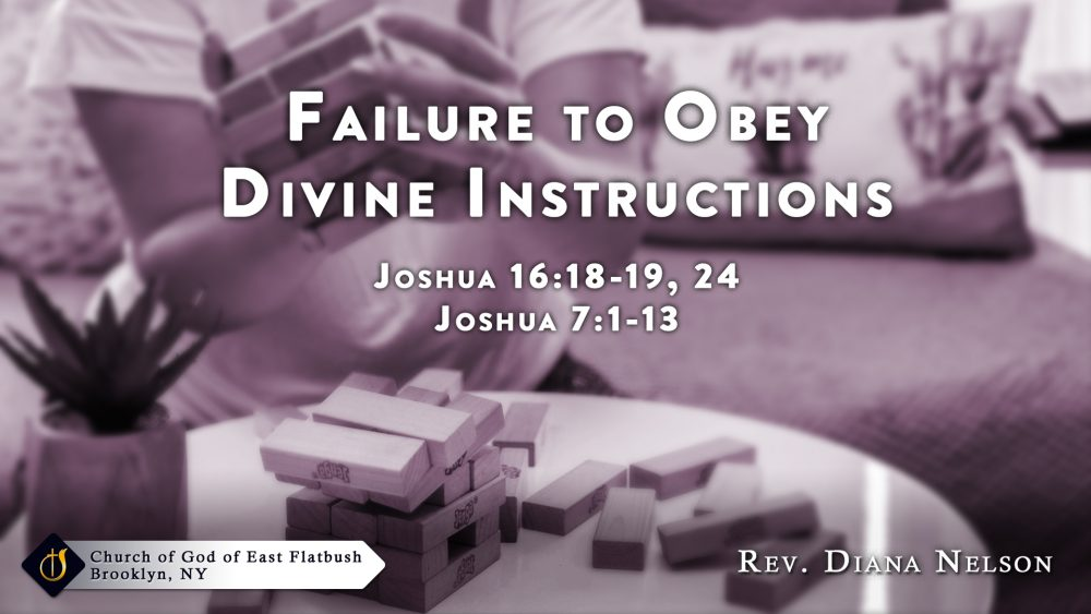 Failure to Obey Divine Instructions Image